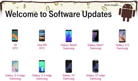 t mobile android update t mobile shares list of samsung and htc phones that will get android 7 0 nougat updates makers