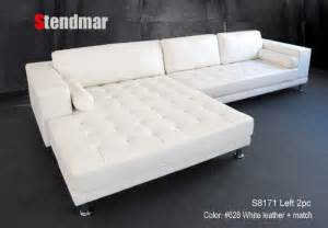 Wide Couches For Sale New Modern Design White Leather Sectional Sofa W
