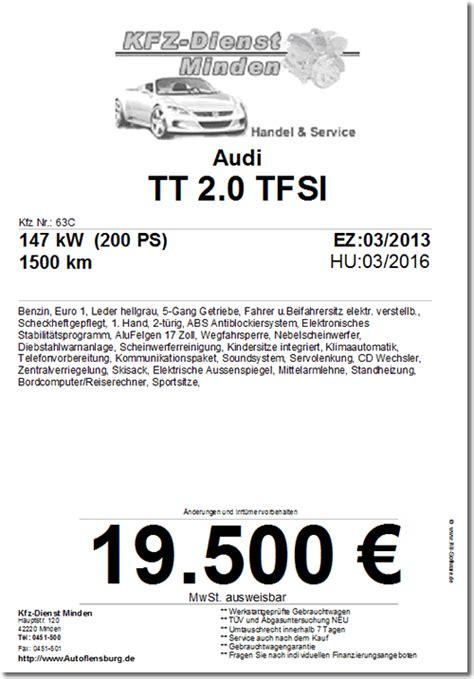 Verkaufsanzeige Auto Vorlage by Autohandel Website Software Webseite F 252 R Autoh 228 Ndler