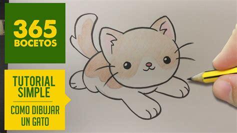 imagenes kawaii gatos como dibujar un gato kawaii paso a paso dibujos kawaii