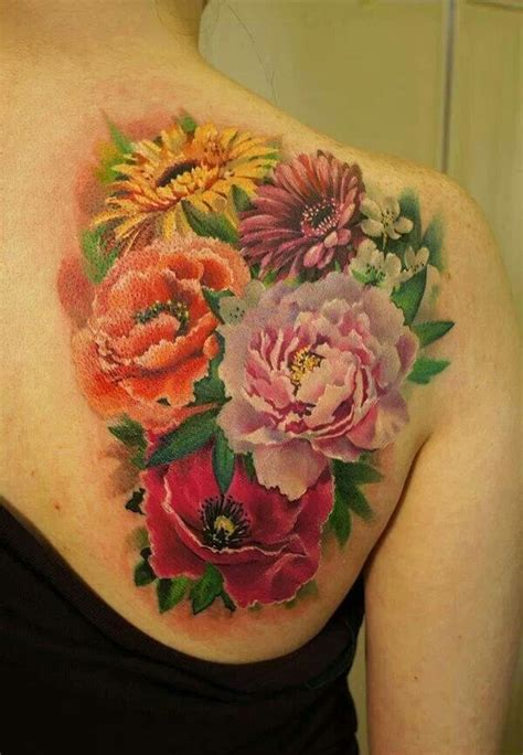 sunflower rose tattoo amazing flower tattoos amazing