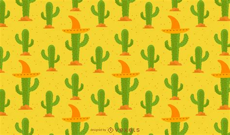 pattern d ch là gì cactus pattern with mexican hat vector download