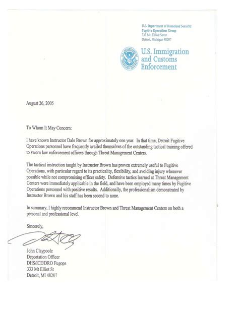 Reference Letter For Immigration Residency References