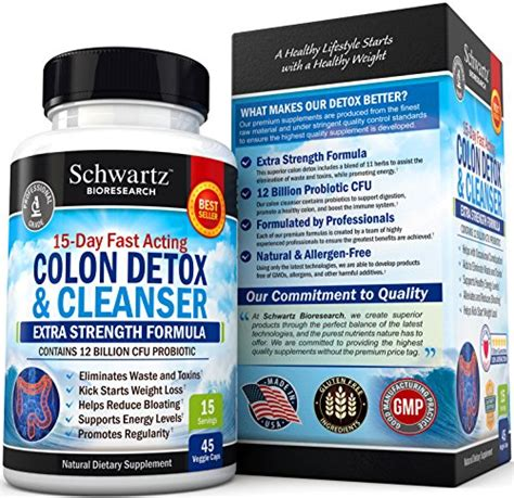 Detox Pills For Losing Weight by Colon Cleanser Detox For Weight Loss 15 Day
