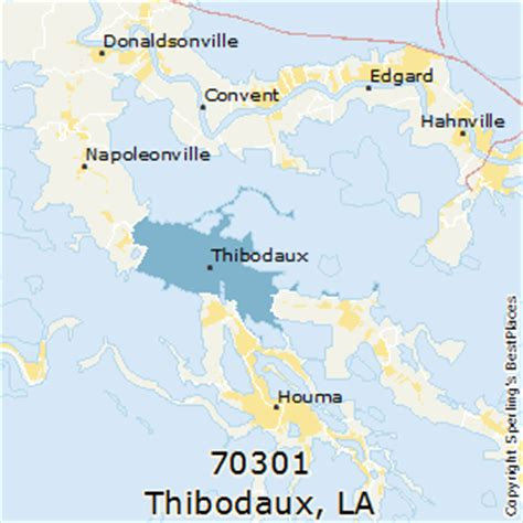 zip code map houma la best places to live in thibodaux zip 70301 louisiana