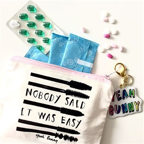 nobody said it was easy testo make up yeah bunny makeup bag mascara pouch nobody