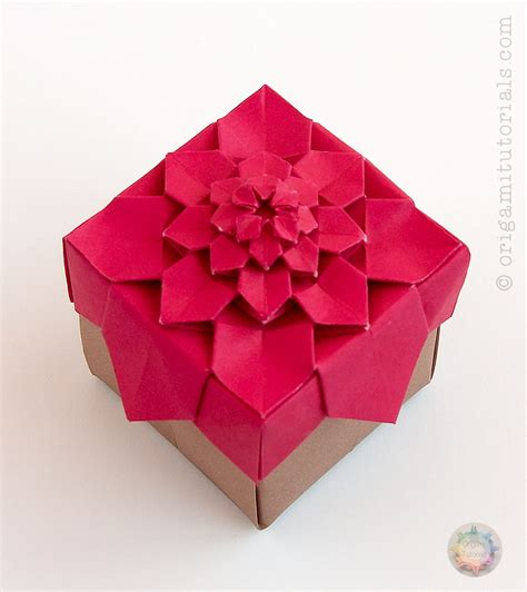 Paper Folded Box - origami hydrangea tessellation box origami tutorials