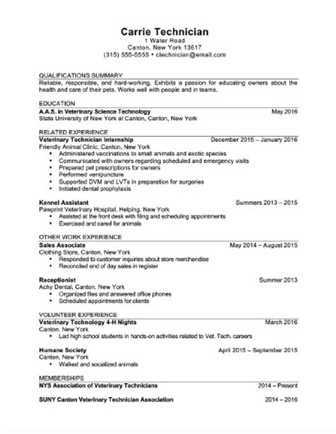 Veterinary Resume Exles Veterinary Assistant Resume Help Ssays For Sale