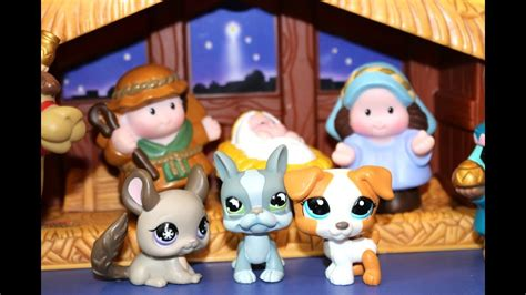 littlest pet shop christmas  fisher price  people nativity popular youtube
