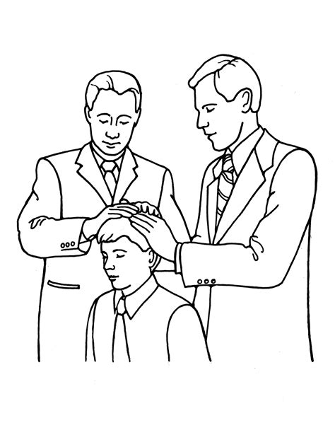 lds coloring pages blessings melchizedek priesthood ordination