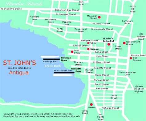 map st island map of st s antigua