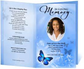 memorial program templates funeral program template funeral order of service all