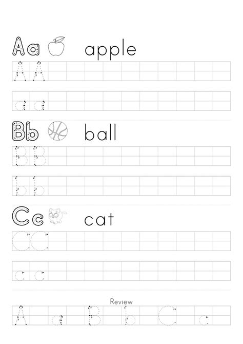 a b c tracing worksheets practice – Learning Printable