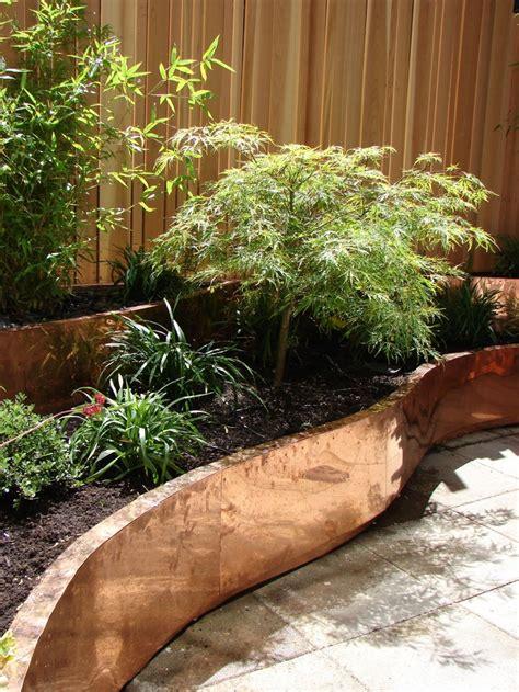 copper planters cedar fencing  city terrace
