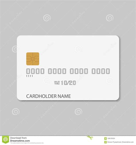 blank plastic card template credit card template blank realistic mockup for plastic