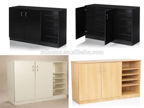 Mfc Large Shoe Storage Cupboard With 2 Door And 4 Open Large Shoe Cabinets With Doors