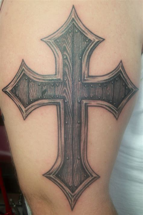 simple cross tattoos men images