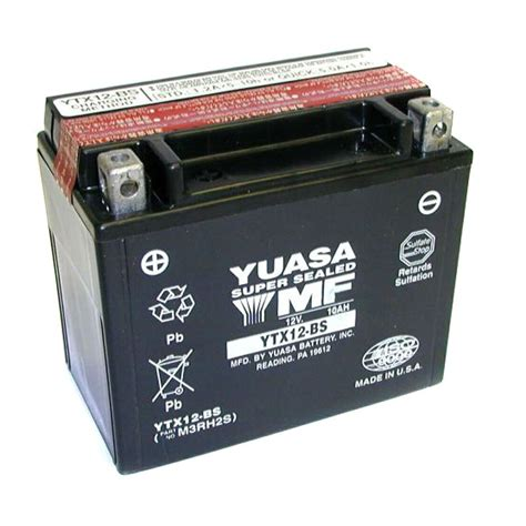 Motorradbatterie Kawasaki Z750 by Batterie Yuasa Ytx12 Bs Agm Ouvert Avec Pack Acide Type