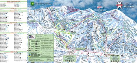 alta ski area piste map plan of ski slopes and lifts