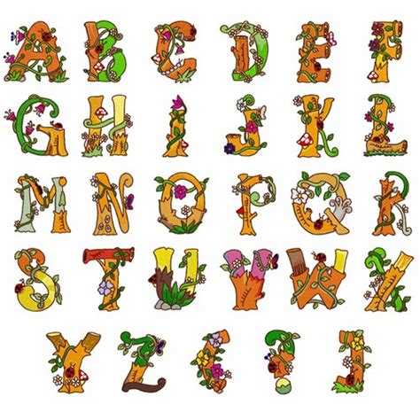 printable letters spring spring alphabet embroidery font annthegran