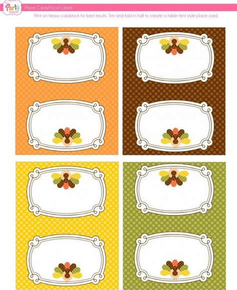 printable thanksgiving food cards 20 best images about food tent cards free printables on