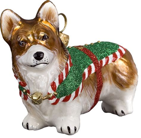 diva dog corgi santa s little yelper ornament