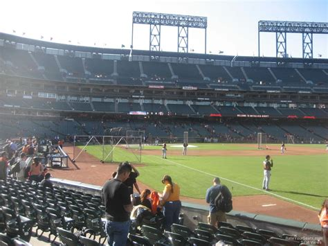 at section 101 at t park section 101 san francisco giants