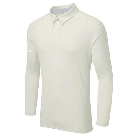 surridge sport ergo sleeve cricket shirt white