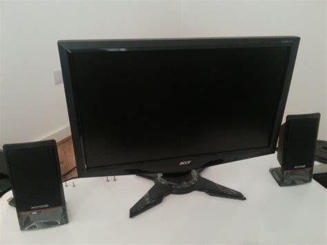 Monitor Lcd Acer G195hqv 185 47cm lcd monitor acer g195hqv wide screen for sale in