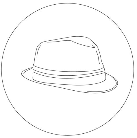 fedora hat coloring page cowboy cowgirl hat pattern fedora hat coloring page