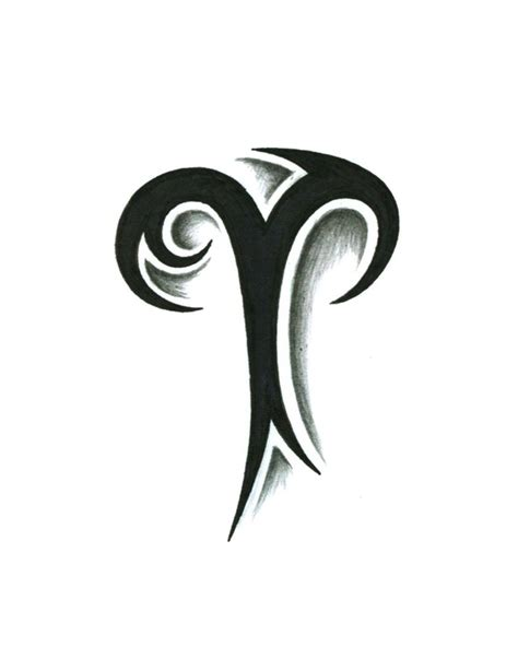 tribal tattoo logo tribal aries zodiac symbol stencil tattooshunt