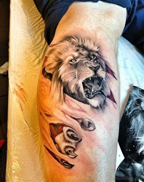 16 best lion tattoos on foot
