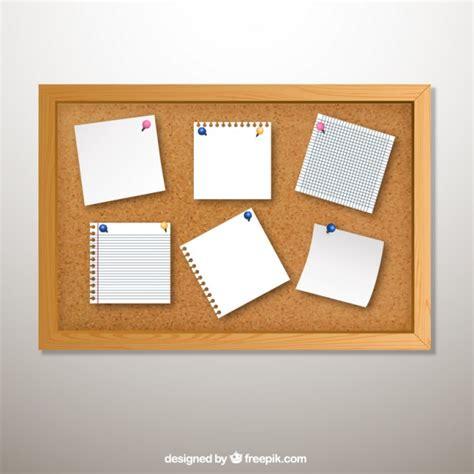 board free cork board with notes vector premium