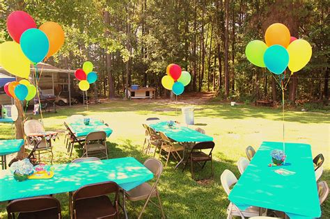 backyard birthday ideas backyard cookout pool party setup noah s 1st birthday