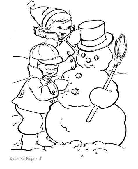 Free Coloring Pages Of Snowman Snowman Coloring Pages Printable