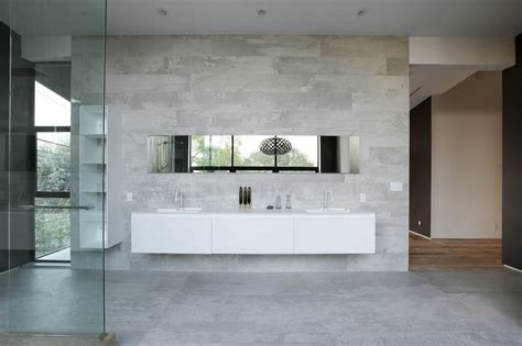 Small Ensuite Bathroom Design Ideas contemporary home with pool has black and white interior