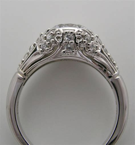 beautiful deco antique style accent engagement