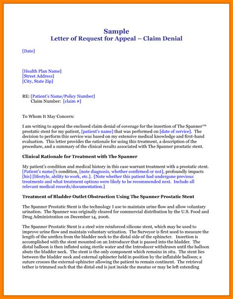 Insurance Appeal Letter For Claim 8 Medication Appeal Letter Resumes Great