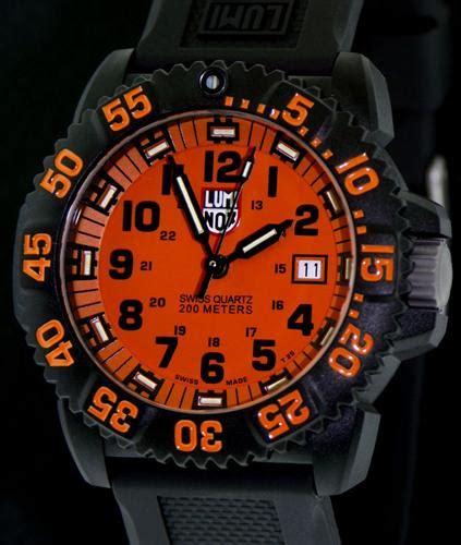 Luminox Navy Seal 3059 Black Orange luminox us navy seal wrist watches colormark orange a 3059 gg
