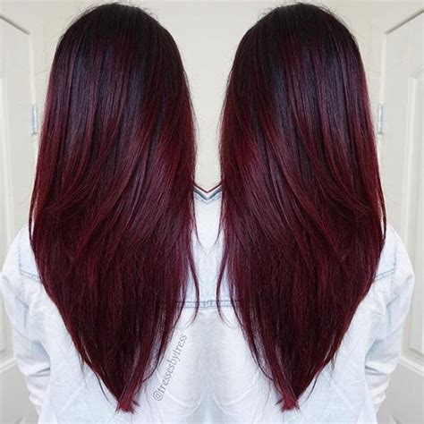 pin by farida on balayage wine hair cherry