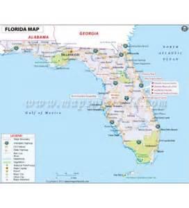 florida latitude and longitude map