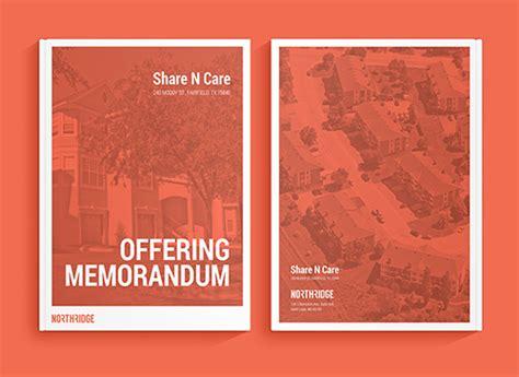 real estate offering memorandum template postcards flyers brochure offering memorandum