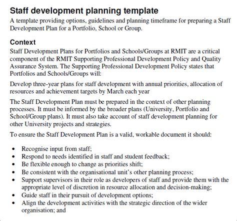 staff professional development plan template staff development plan template development plan