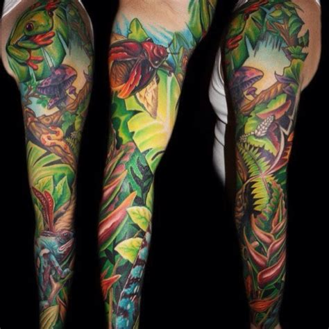 jungle tattoos jungle sleeve designs ideas and meaning tattoos