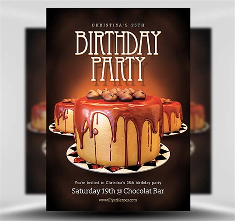Birthday Flyers Templates by Birthday Flyer Template Flyerheroes