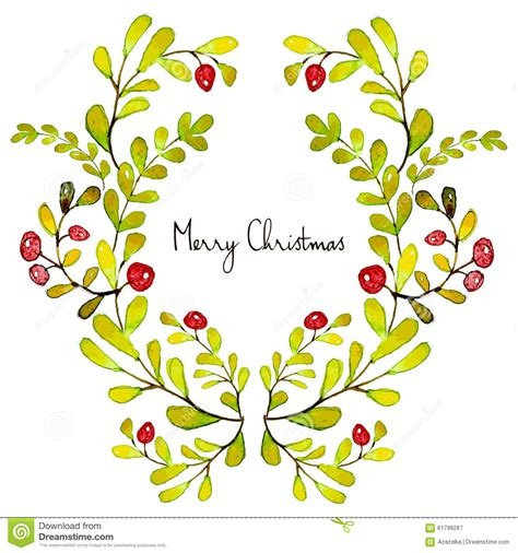 merry christmas grating card holiday post card template stock vector illustration  drawn