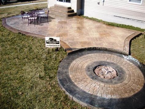 backyard concrete cost average cost of sted concrete patios best sted