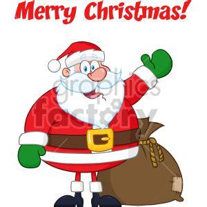 happy santa claus cartoon mascot character waving hand drawing vector illustration  winter
