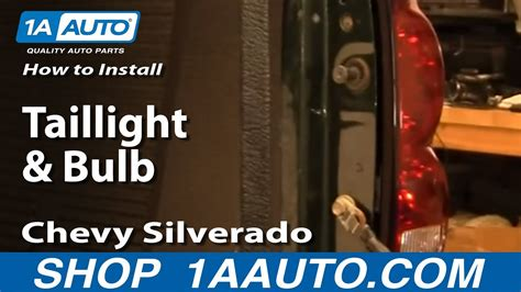 install replace taillight  bulb chevy silverado
