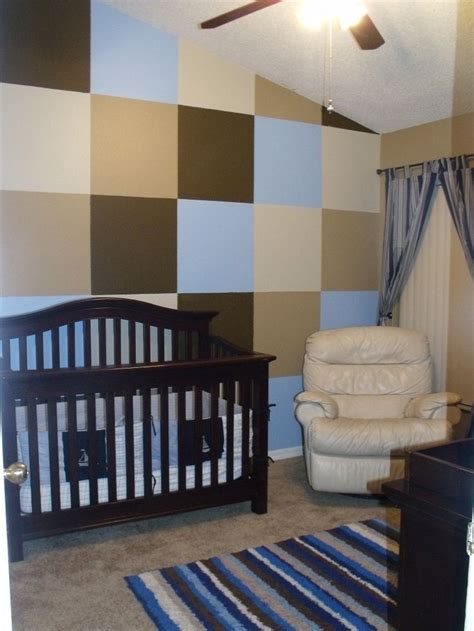 blue brown master bedroom like the accent wall but in a nursery idea for a boy love the accent wall blue brown